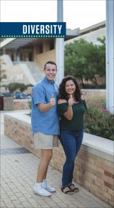 Jake Gregory Vasquez and Carolina Ramirez representing Diversity.