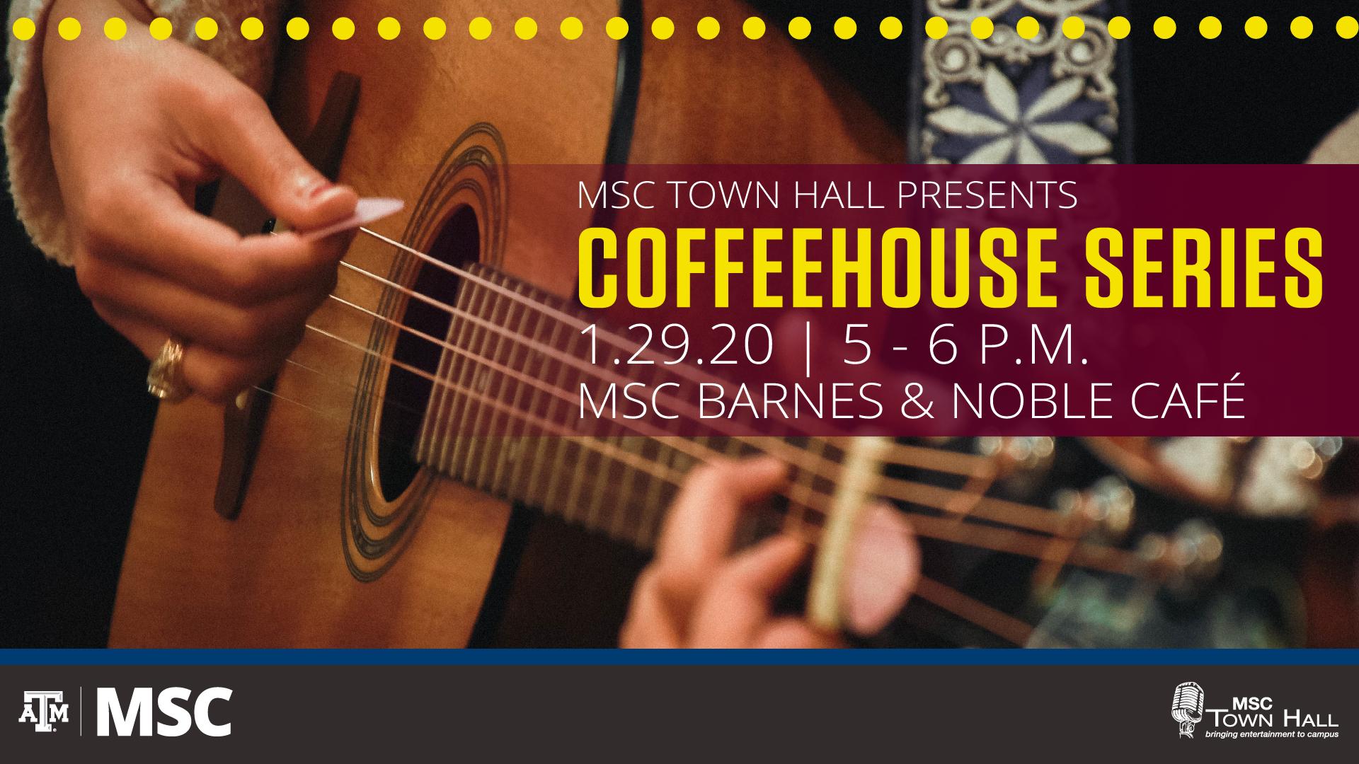 Coffeehouse Series, 5-7 p.m., Barnes and Noble Café