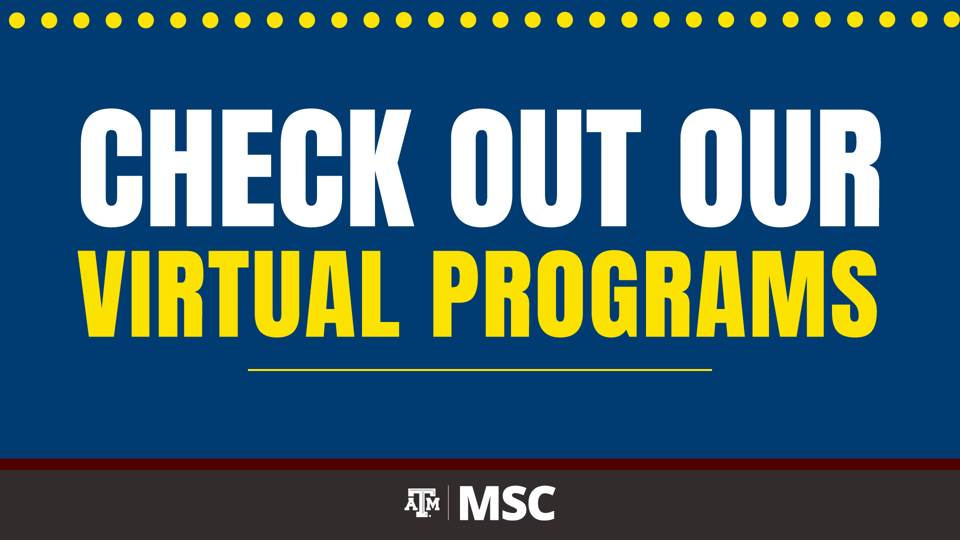 Check out our Virtual Programs Calendar