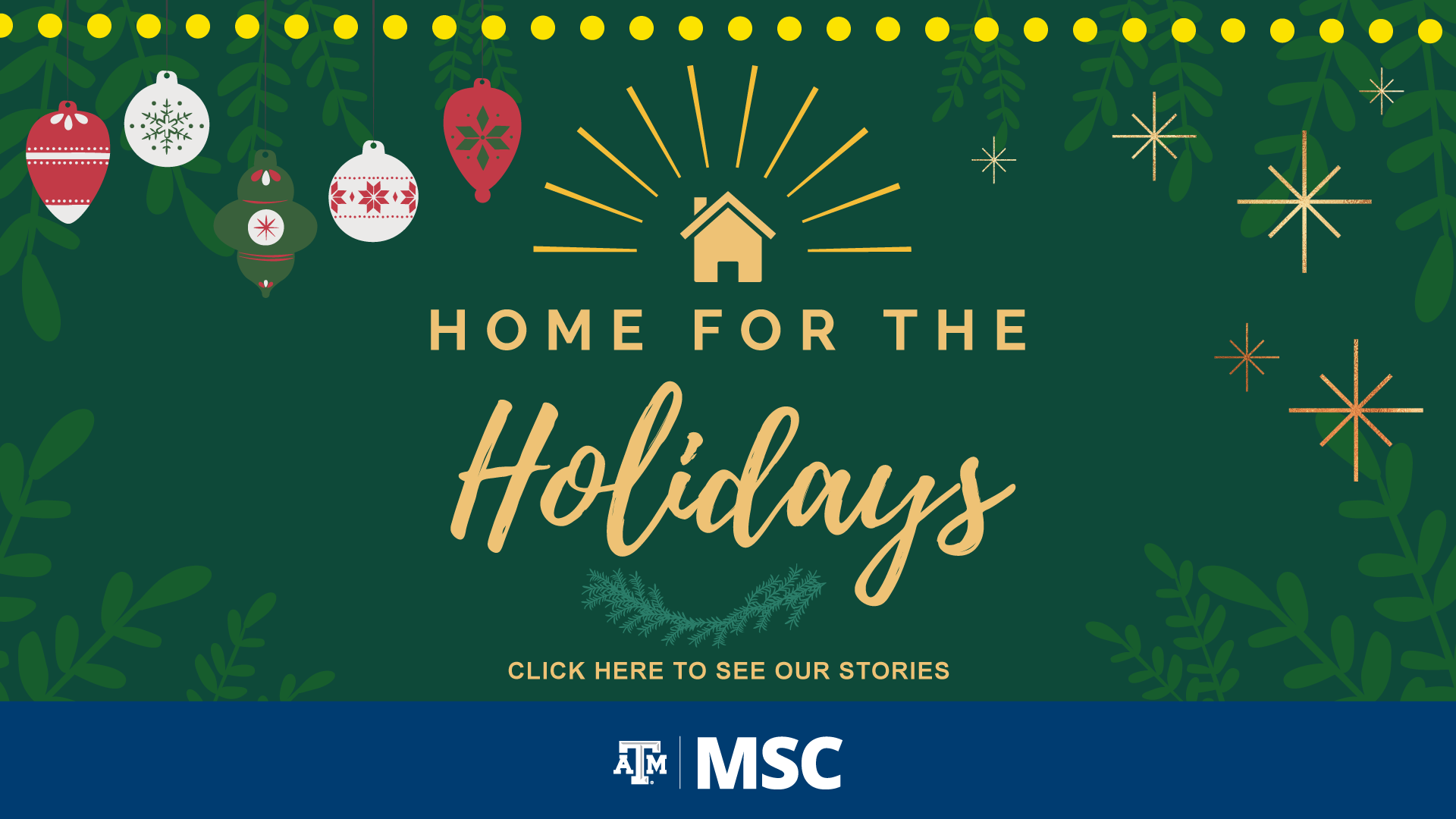Home For the Holidays, click here to visit our instagram and watch our stories